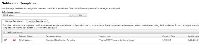 Winedirect Documentation Orders Notification Templates